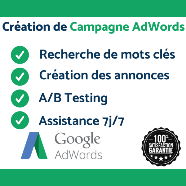 Campagne publicitaire google adwords