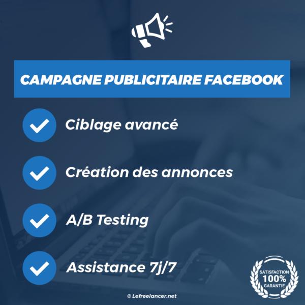 création campagne publicitaire réseaux facebook