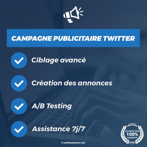 création campagne publicitaire twitter