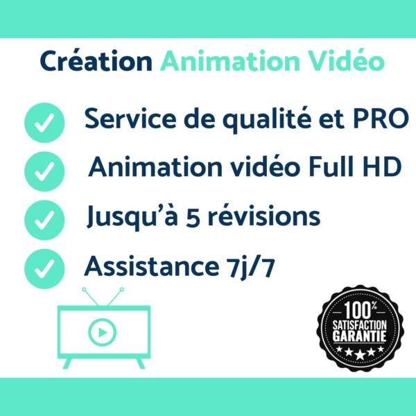 Création vidéo animé motion design pas cher